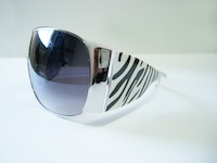 wear -black & white sunglasses